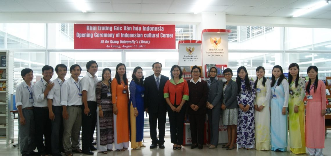 Opening Ceremony of Indonesian Cultural Corner at AGU Library
